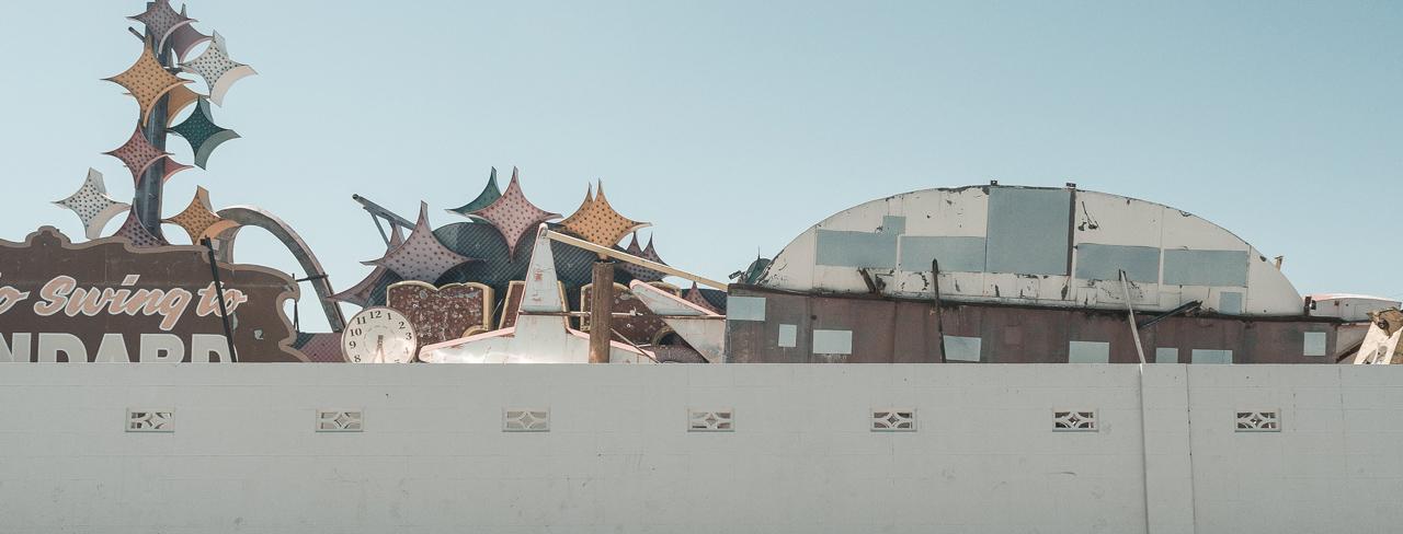Cimetièrre de néon de Las Vegas. photos prise par Javierre Jeremy